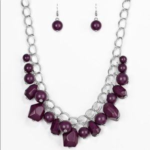 Purple Chain Necklace Set